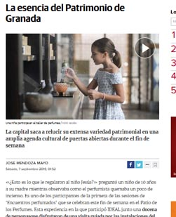 Article en ligne publié par ideal.es, Septembre 2019